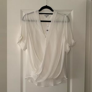 Naked Zebra sheer white top with camisole